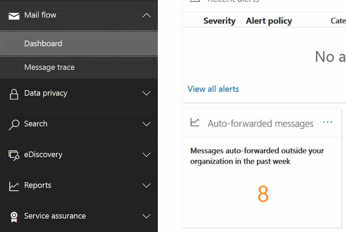 How do I check to see if emails have been auto-forwarded in Microsoft 365.